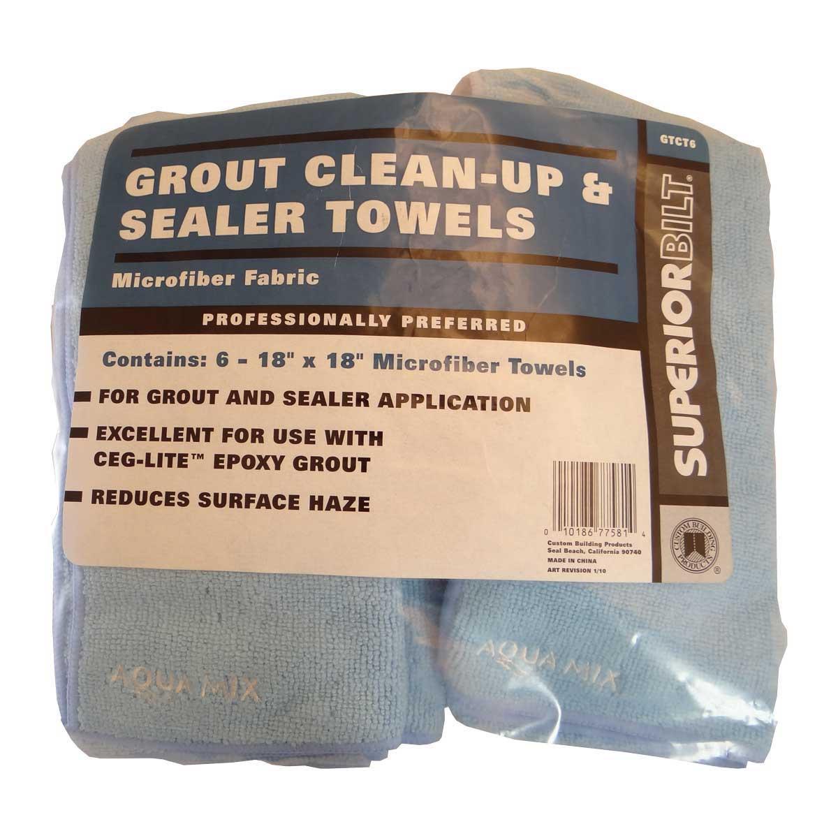 Superiorbilt Grout Clean Up Microfiber Towel Contractors