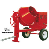 Multiquip Whiteman Steel Drum Concrete Mixer Lower and wider loading drum, multi-position dump latch
