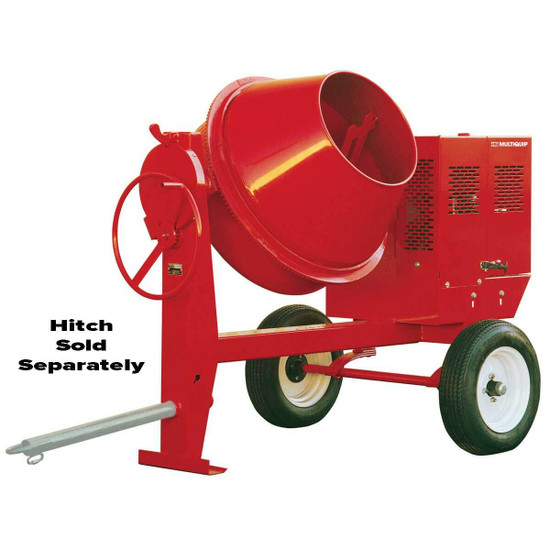 Multiquip Whiteman Steel Drum Concrete Mixer Lower and wider loading drum, multi-position dump latch