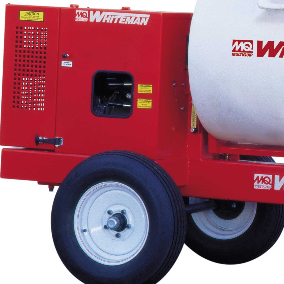 Multiquip Whiteman Gas Mixer wheels