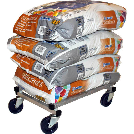 Weight Cap. 320 Lbs. 0428FD Racatac Folding Aluminum Tile, Bucket & Material Dolly