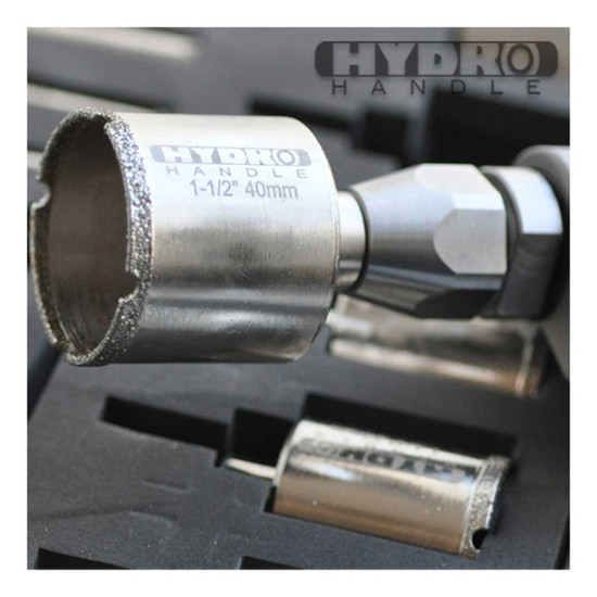 close up hydro handle bit in drill