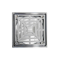 Laticrete 5 inch Square Polished SS Shower Drain