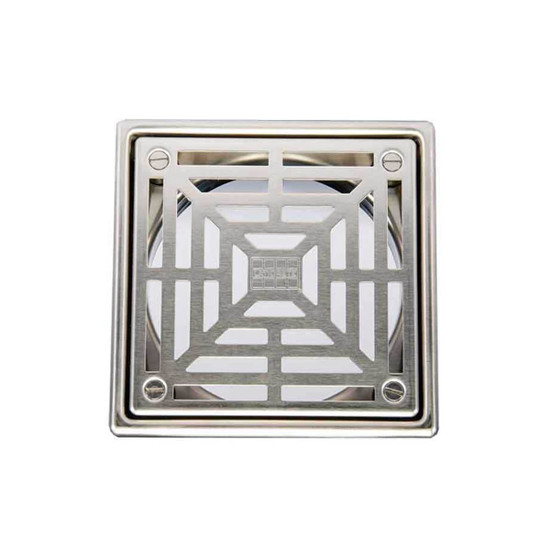 Laticrete 5 Inch Square Brushed SS Shower Drain