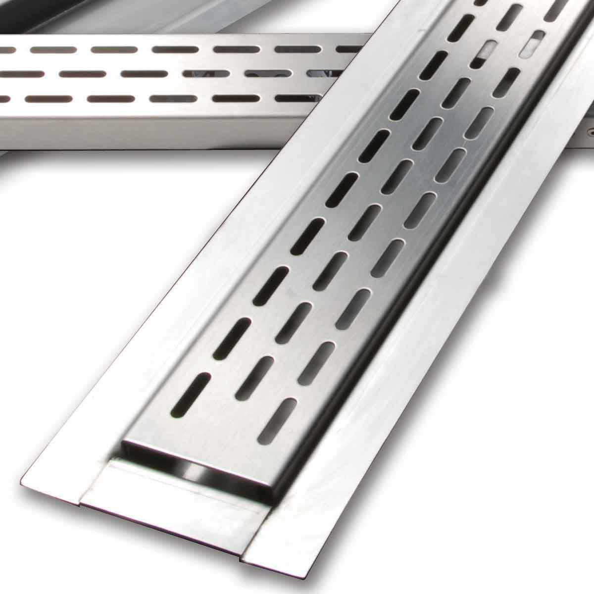Brushed Stainless Steel Laticrete Hydro Ban Linear Drain