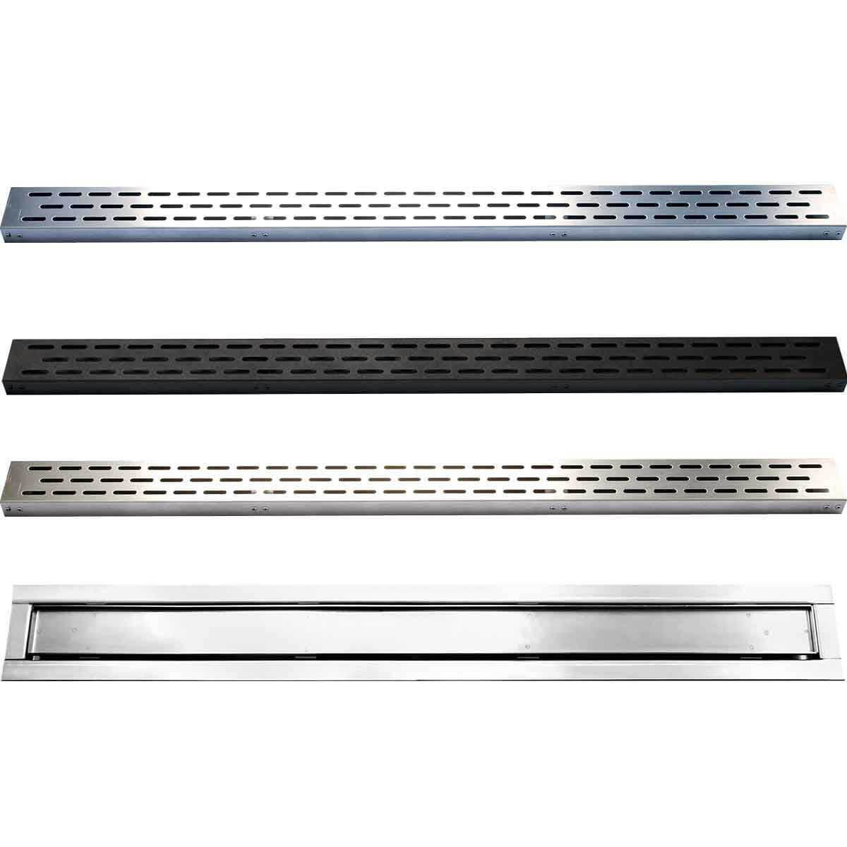 Polished Stainles Steel Laticrete Hydro Ban Linear Drain