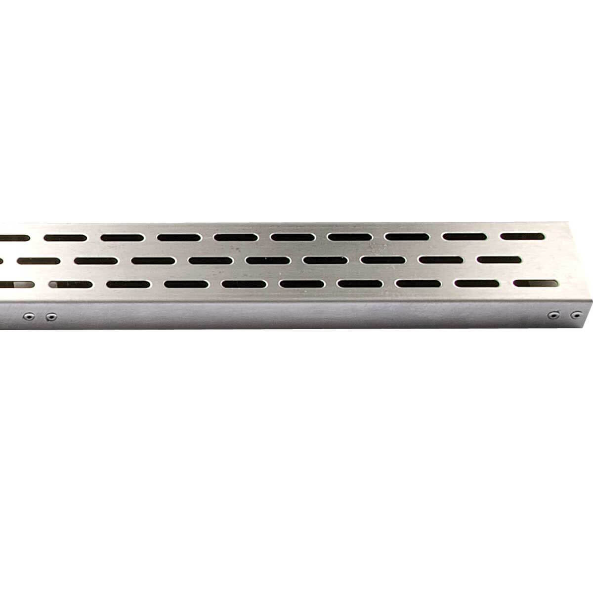 Polished Stainless Side Outlet Laticrete Hydro Ban Linear Drain