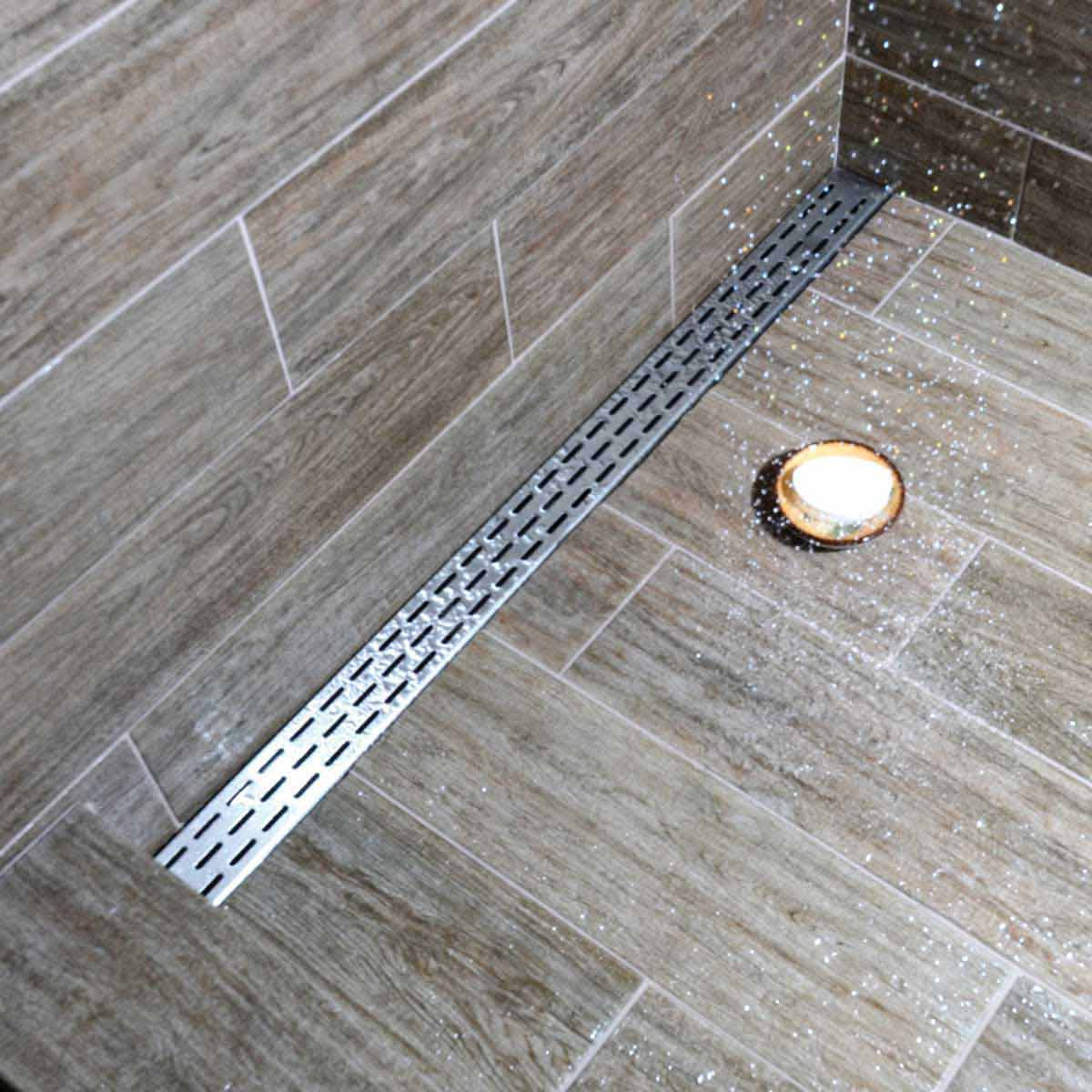 Off White Subway Tile Laticrete Hydro Ban Linear Drain Contractors Direct