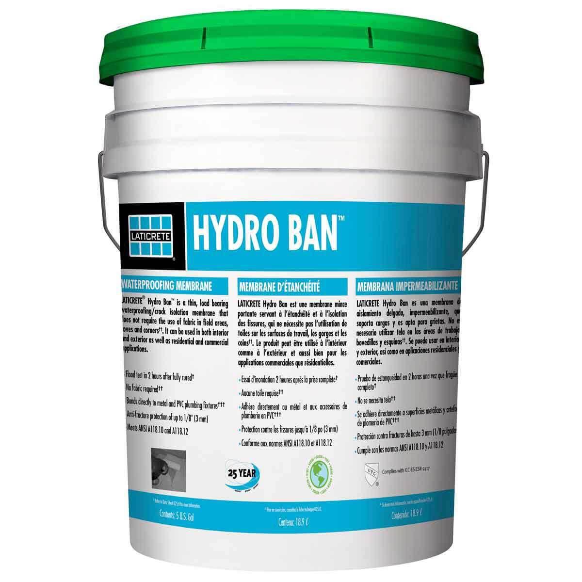laticrete hydro ban 5 gallon pail