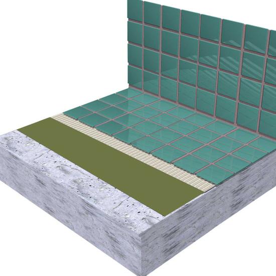 laticrete hydro ban over concrete