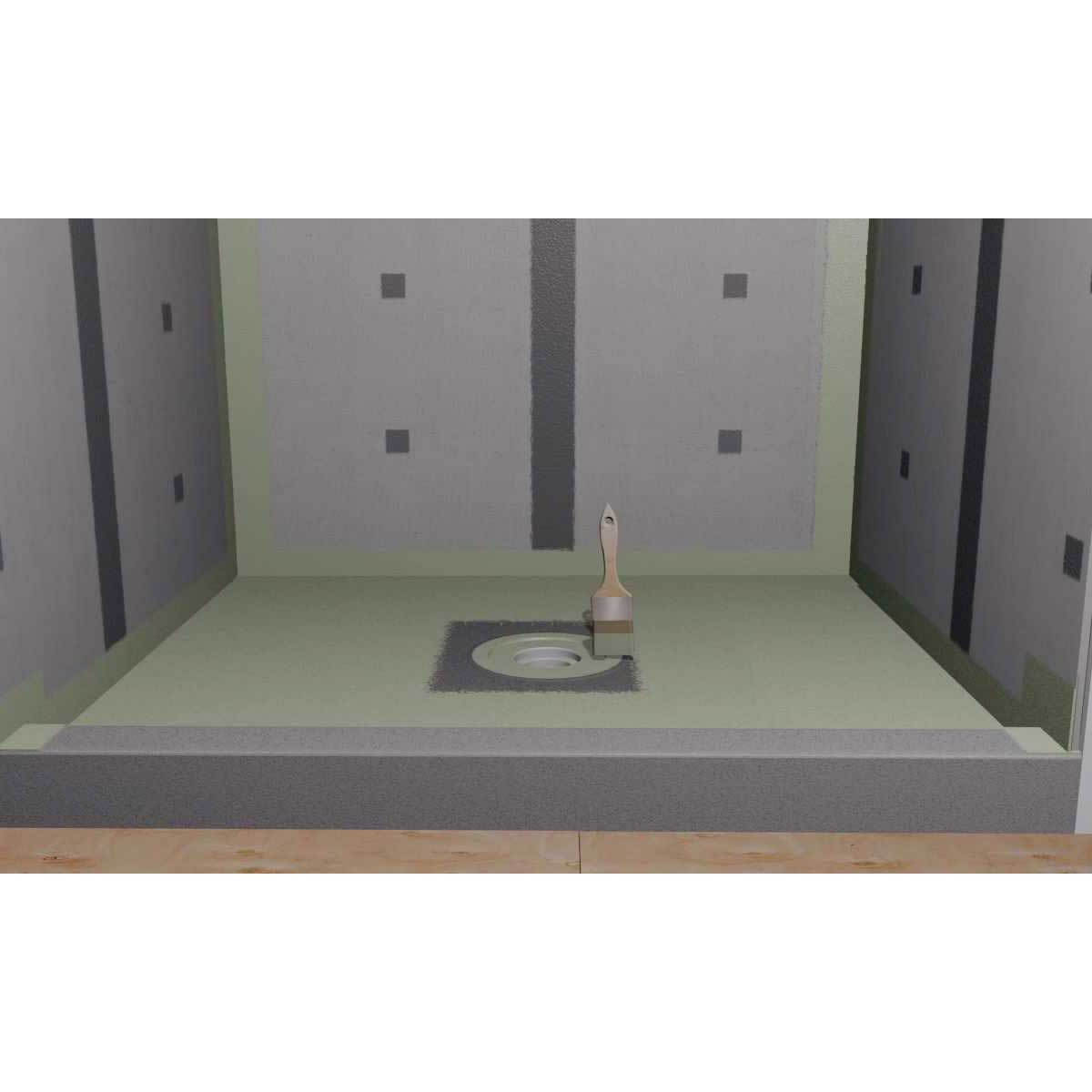 laticrete hydro ban shower pan