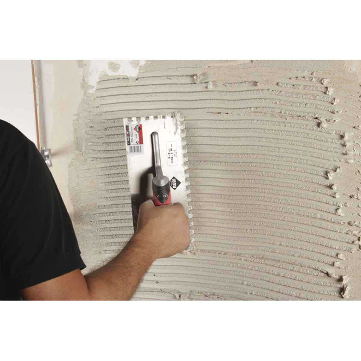 Rubi Square Notched Trowels wall