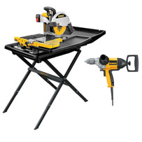 Dewalt Tile Saw Package
