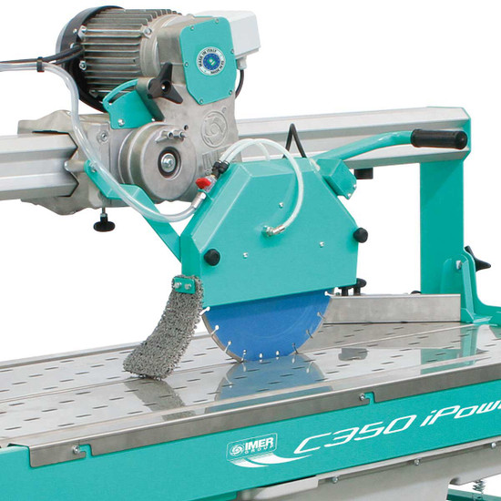 Imer C-350 Stone Saw cutting head