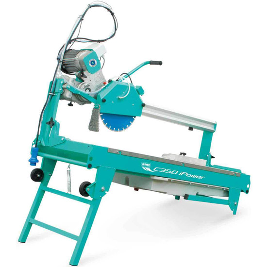 Imer C-350 Saw with folded stand