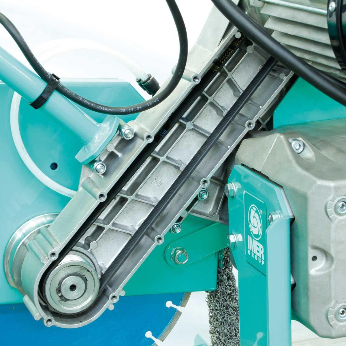Imer Combicut belt driven motor