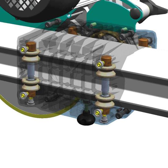 """Imer C-350 i-Power 14"""" Stone Saw motor roller bearings"""