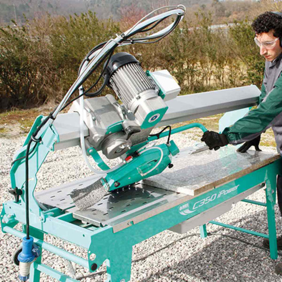 "Imer C-350 14"" Stone Saw 45 degree miter cut"