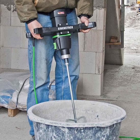 CS Unitec EHR 23/1.4 R Eibenstock Mixer, MG 160 Mixing Paddle with M-14 Thread, mixing rubber bucket