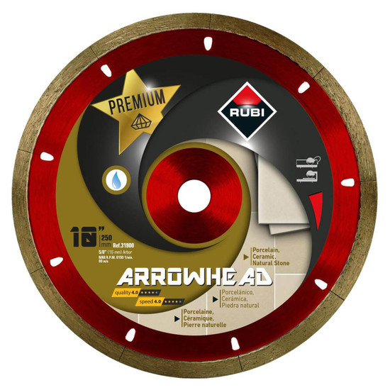 "Rubi Arrowhead 10"" Diamond Blade"