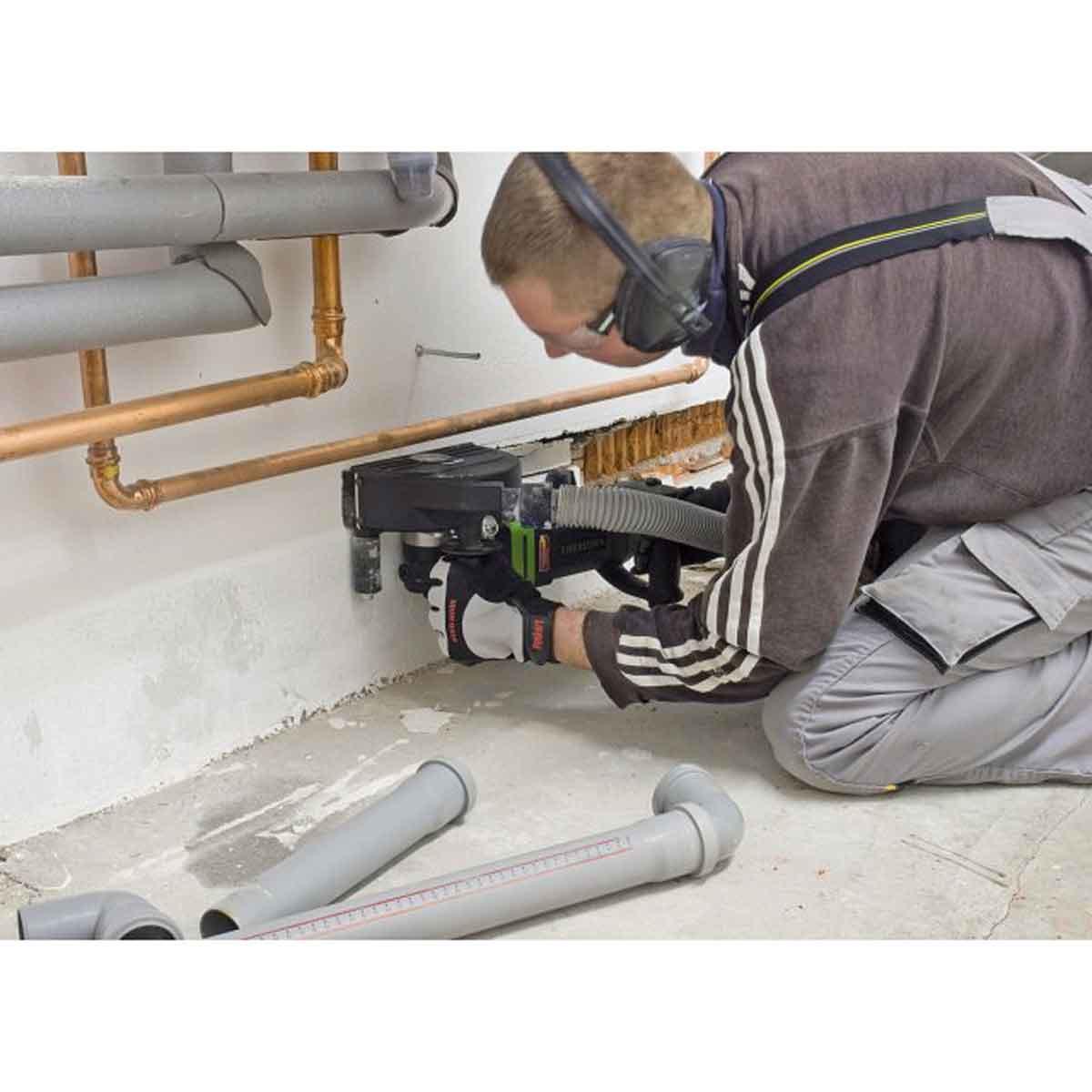 eibenstock wall slotter closed vacuum hood