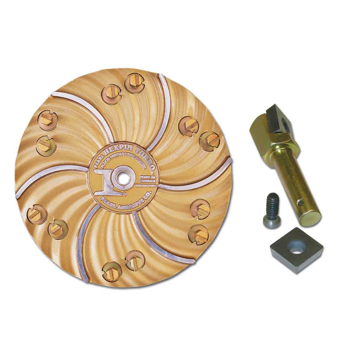 Pearl abrasive hexpin carbide chip