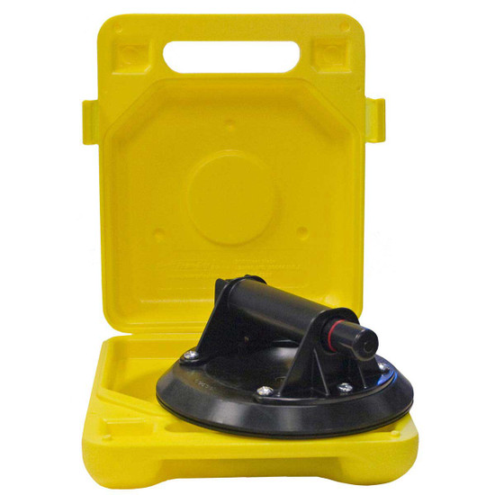 N4000 Powr-Grip hand actuated cups operate on a pump system, vacuum under their gripping pad section. The pump plunger had a red band to indicate suction level at all times
