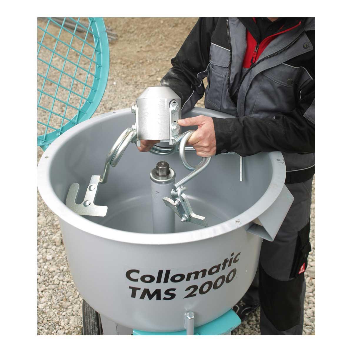 Collomix Mortar Mixer paddle remove