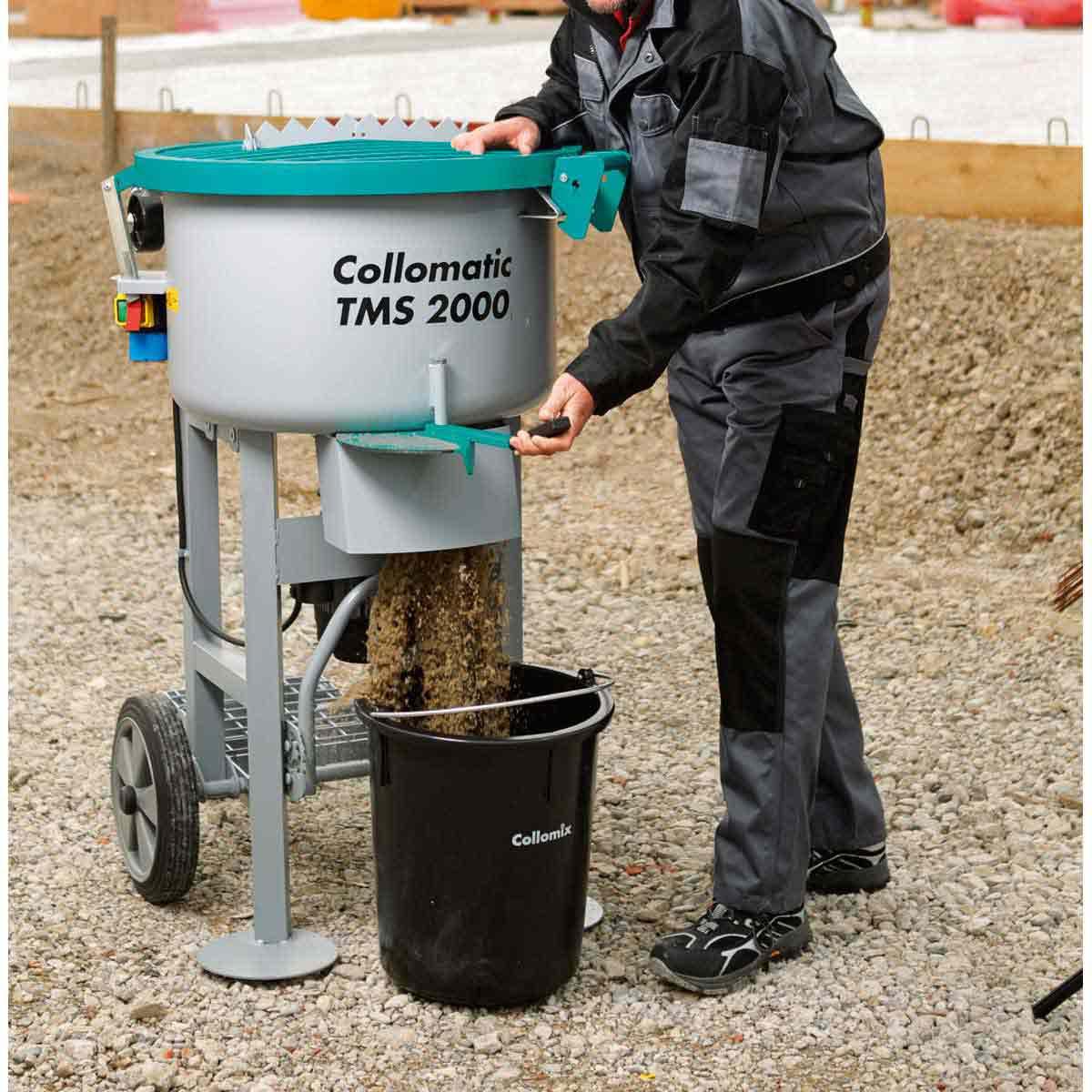 Collomix Mortar Mixer discharge
