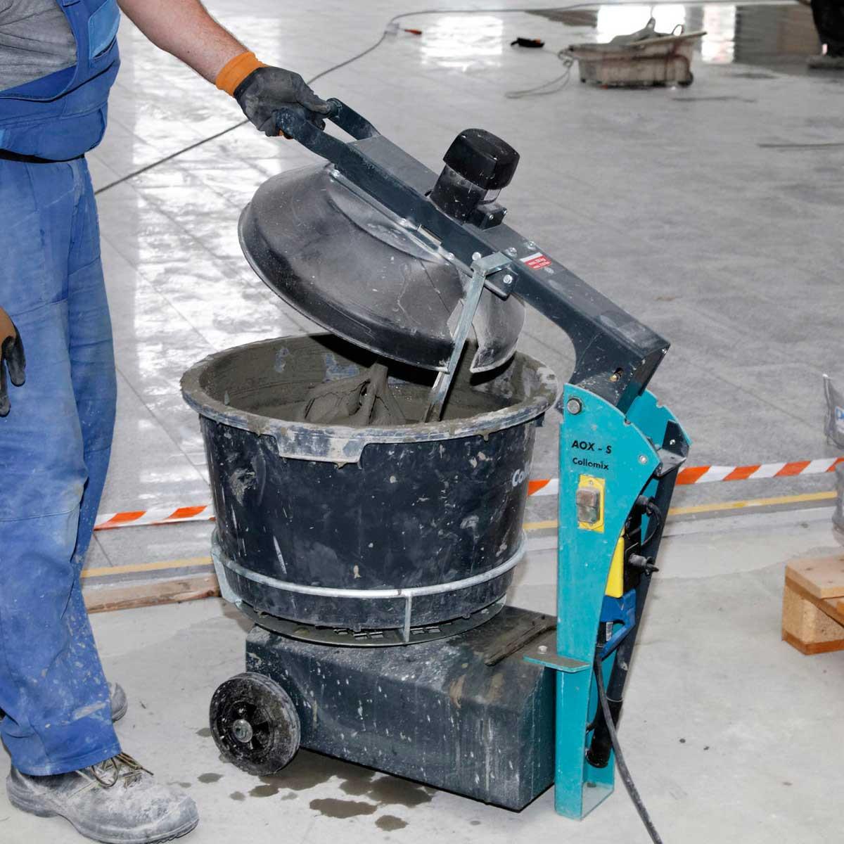 Collomix AOX-S bucket mixer closed