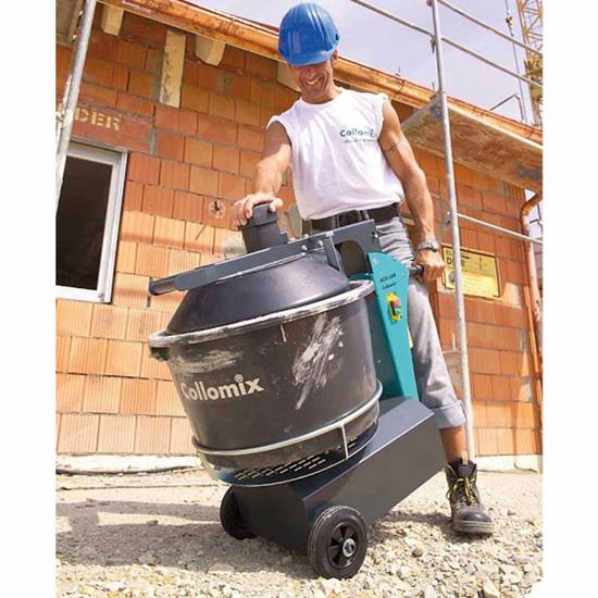 Portable Mortar Mixer In Use