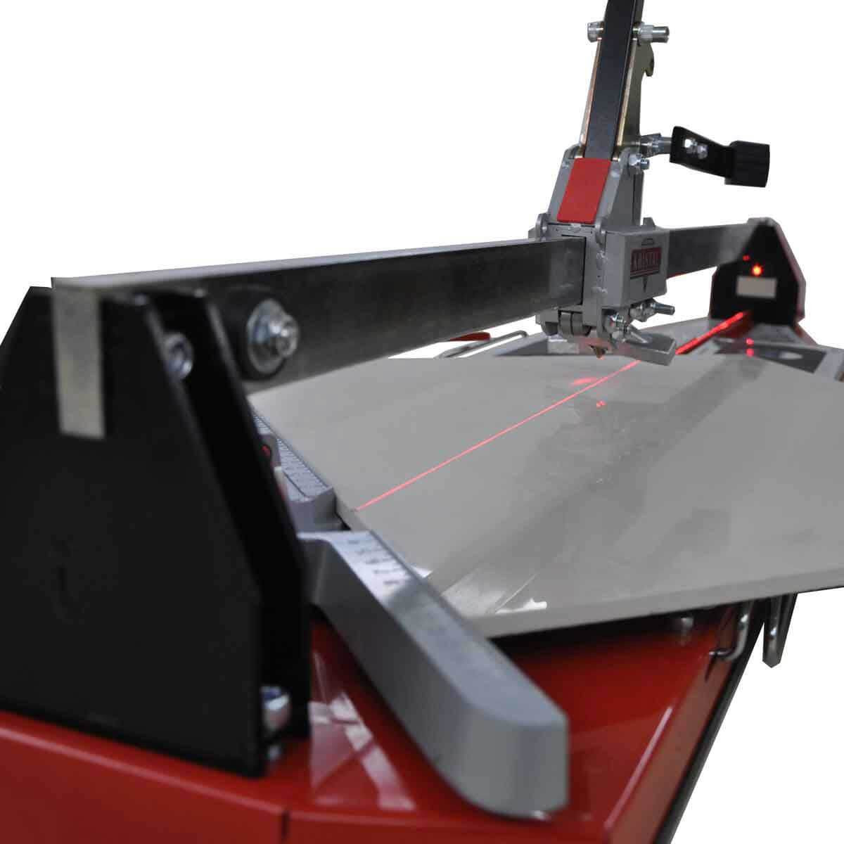 Giga-cut tile cutter with laser