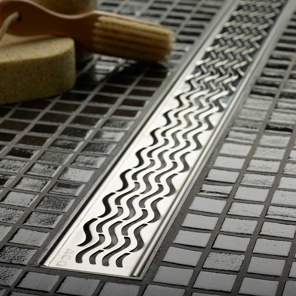 ACO Plus Square Design Grate Linear Drain 4-ft
