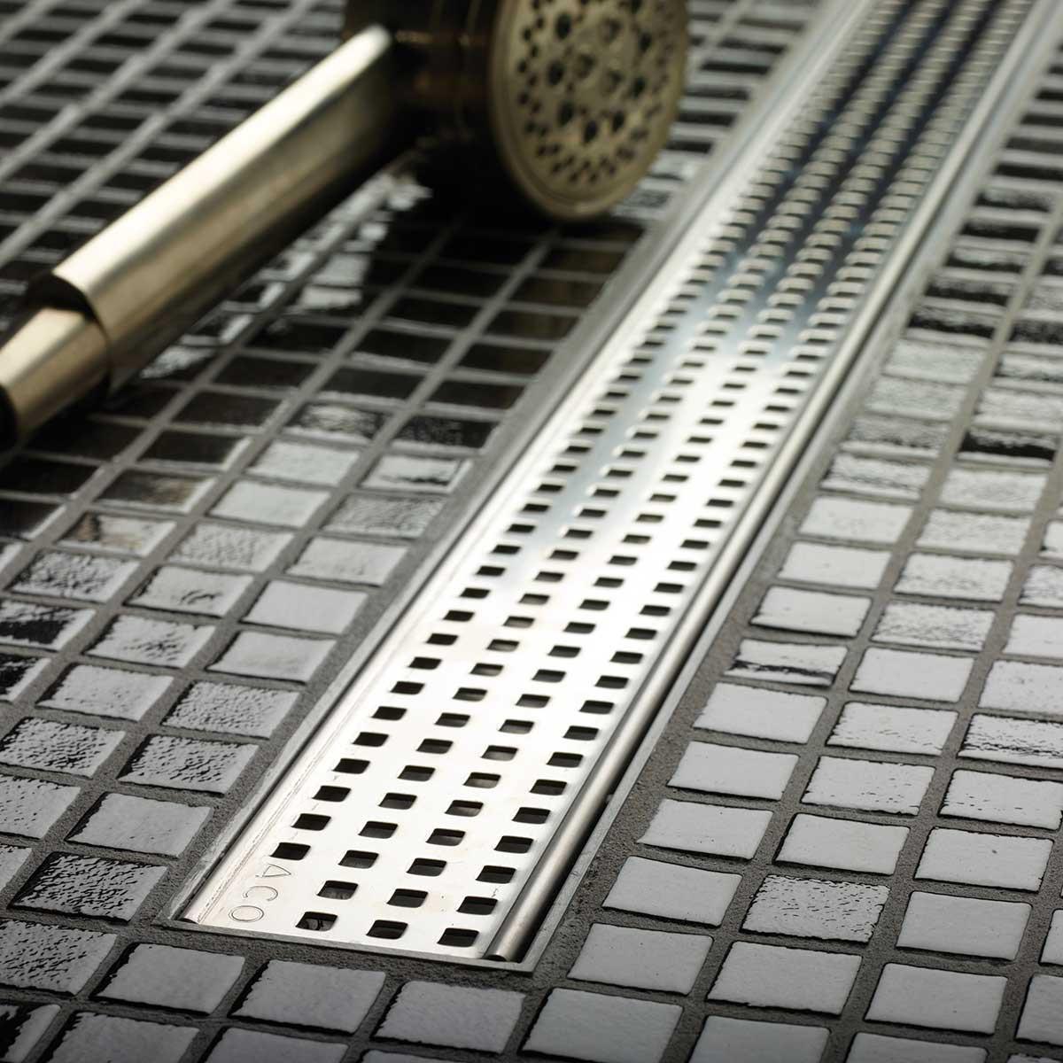 ACO Plus Square Design Grate Linear Drain 4-ft 37242