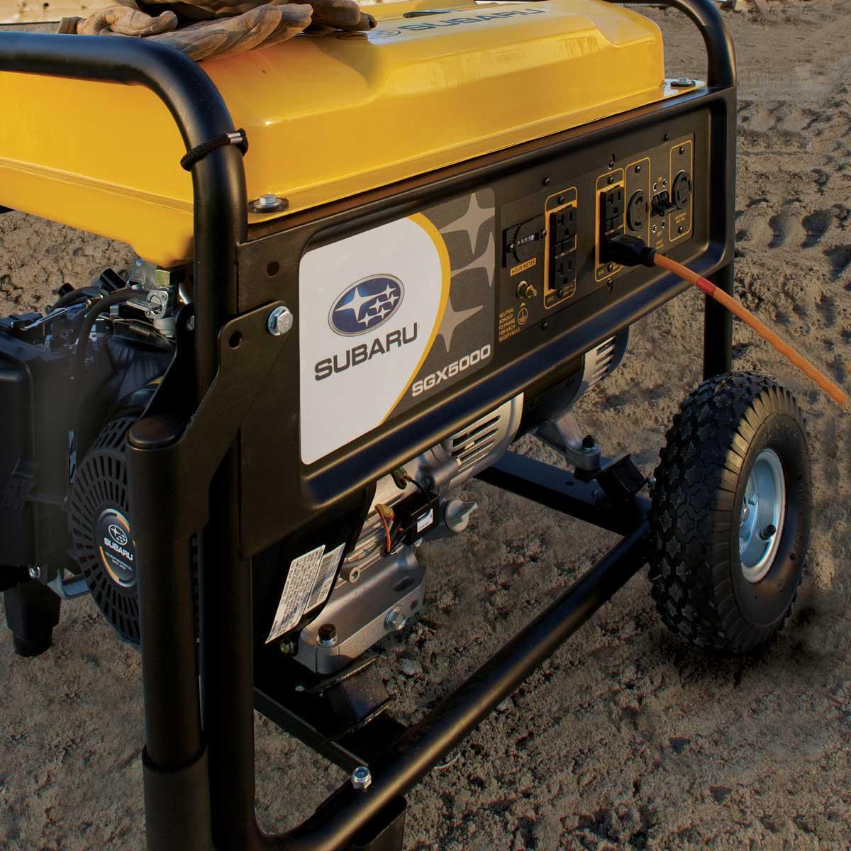 commercial 4,900 watt generator subaru