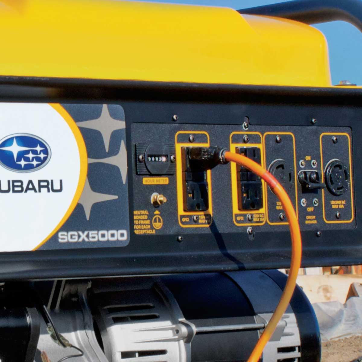 multiple receptacles for subaru portable generator