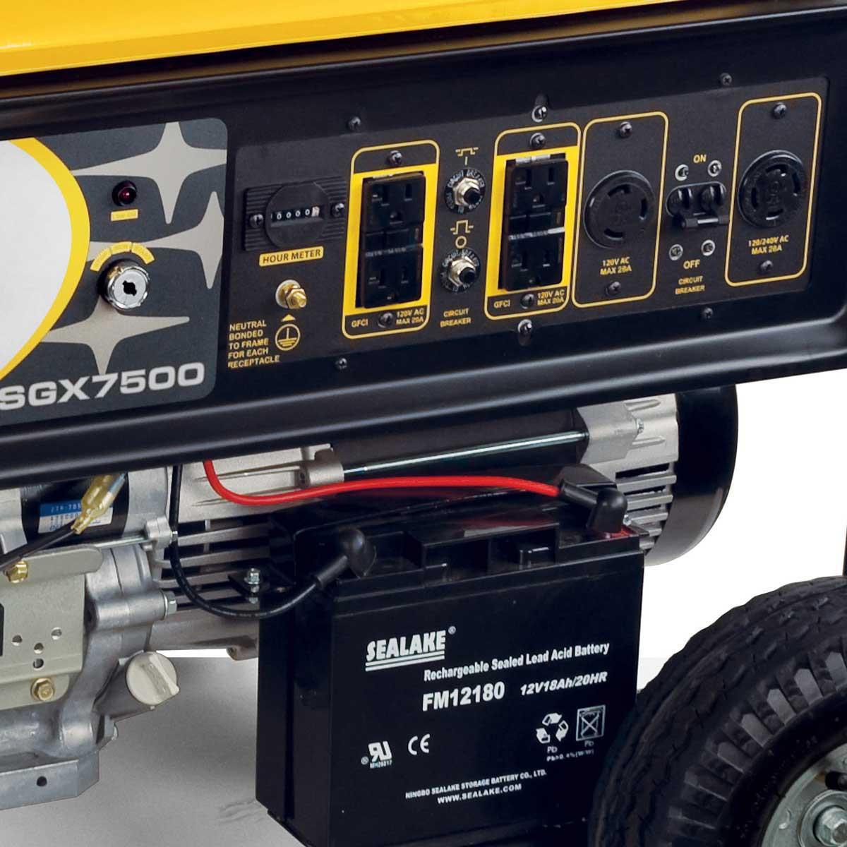 multiple receptacles SGX7500E Subaru Commercial Portable Generator