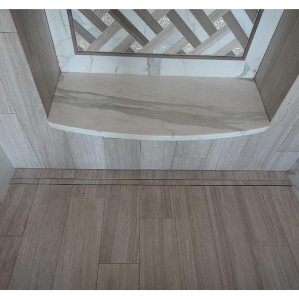 Quick Drain ProLine Linear Shower Drain Body W/ Tile-In Cover