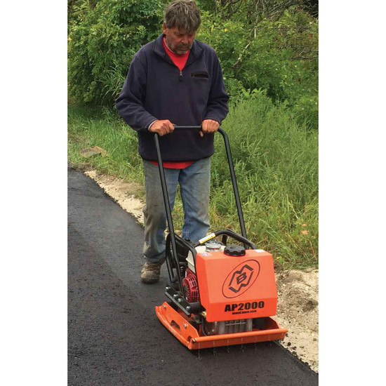 MBW Compactor Plate In Use