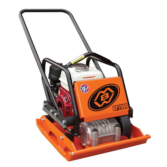 MBW GP2000GH Soil Plate Compactor