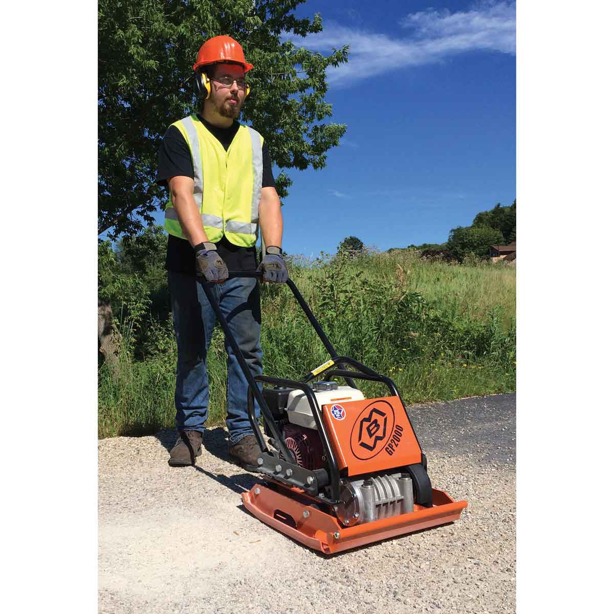 MBW Soil Plate Compactor gravel