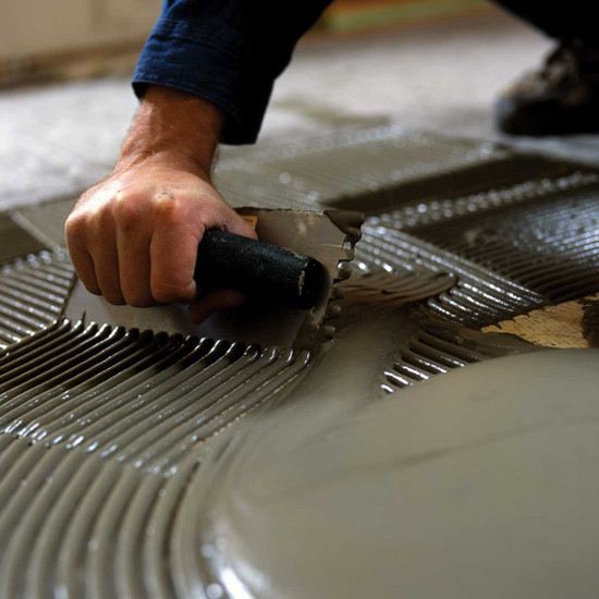 Nuheat Floor Heat mat installation