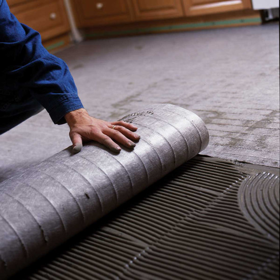 Nuheat Floor Heat roll installation