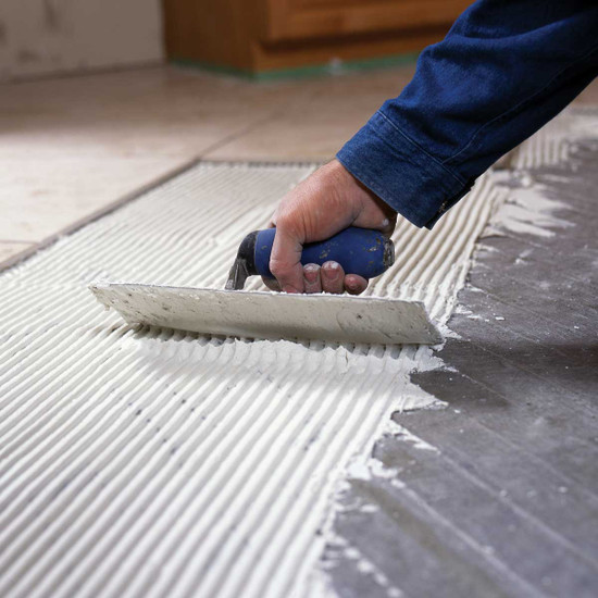 Nuheat Floor Heat tile installation