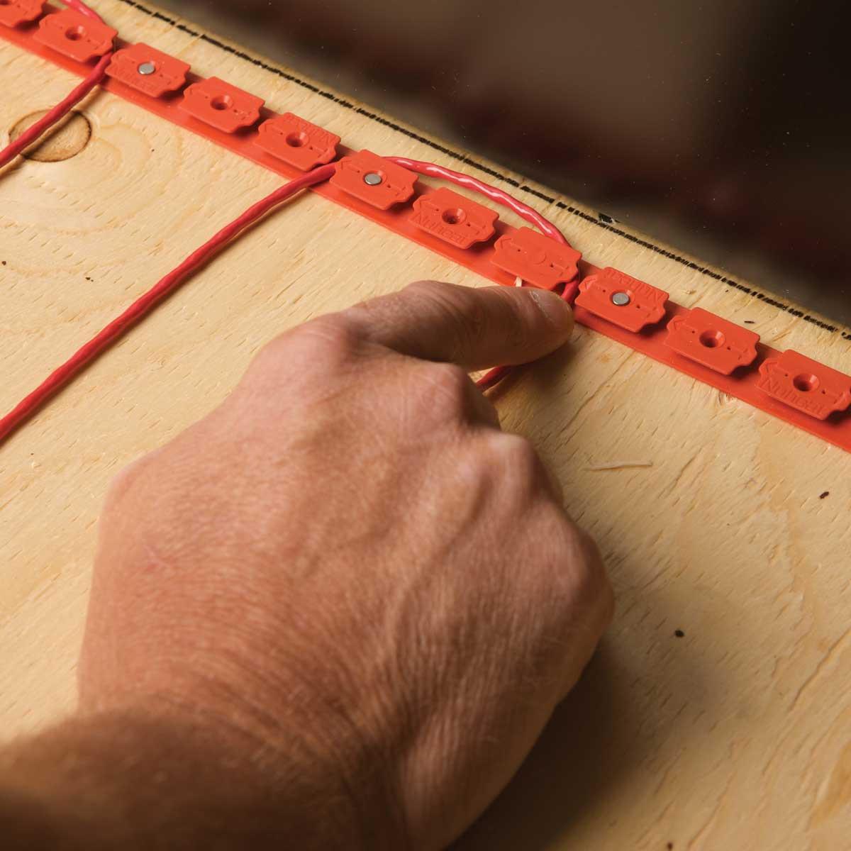 Nuheat Cable Floor Heat install
