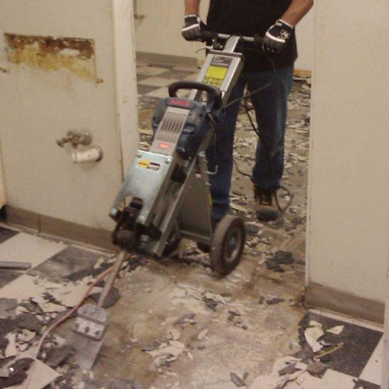 Pearl Bosch Brute Easy Hammer Trolley for Tile Removal