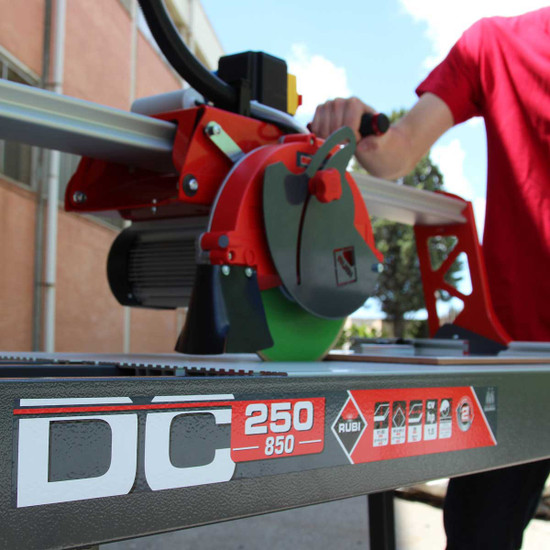 Rubi DC850 Wet Tile Saw Cuts Tile