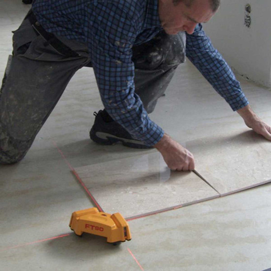 Laying Floor Tile with FT 90 Layout Tool