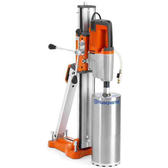 Husqvarna DM340 Drill with Optional Stand and Diamond Bit