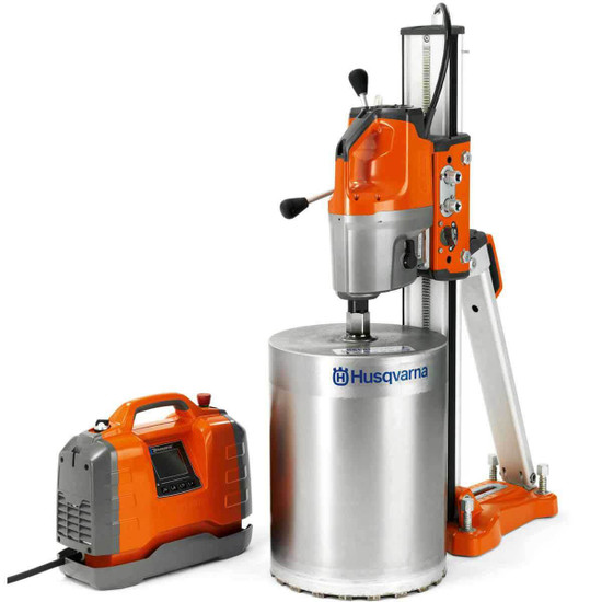 Husqvarna DM650 Core Drill and PP65 Power Pack with Diamond Bit